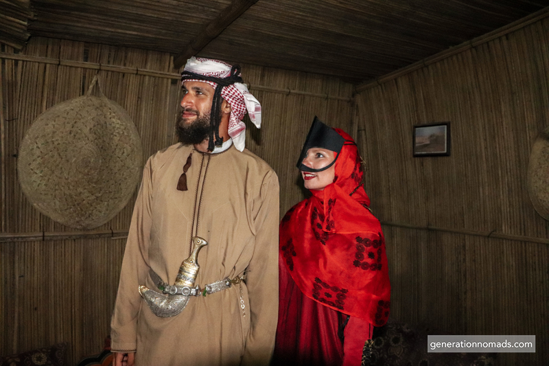 Traditional Bedouin clothing at Wahibi Bedouin Camp Resort