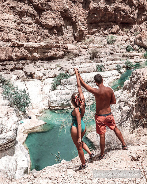 Less strict dress code at Wadi Shab
