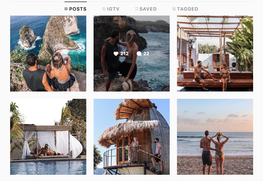 Social Medie travel influencer