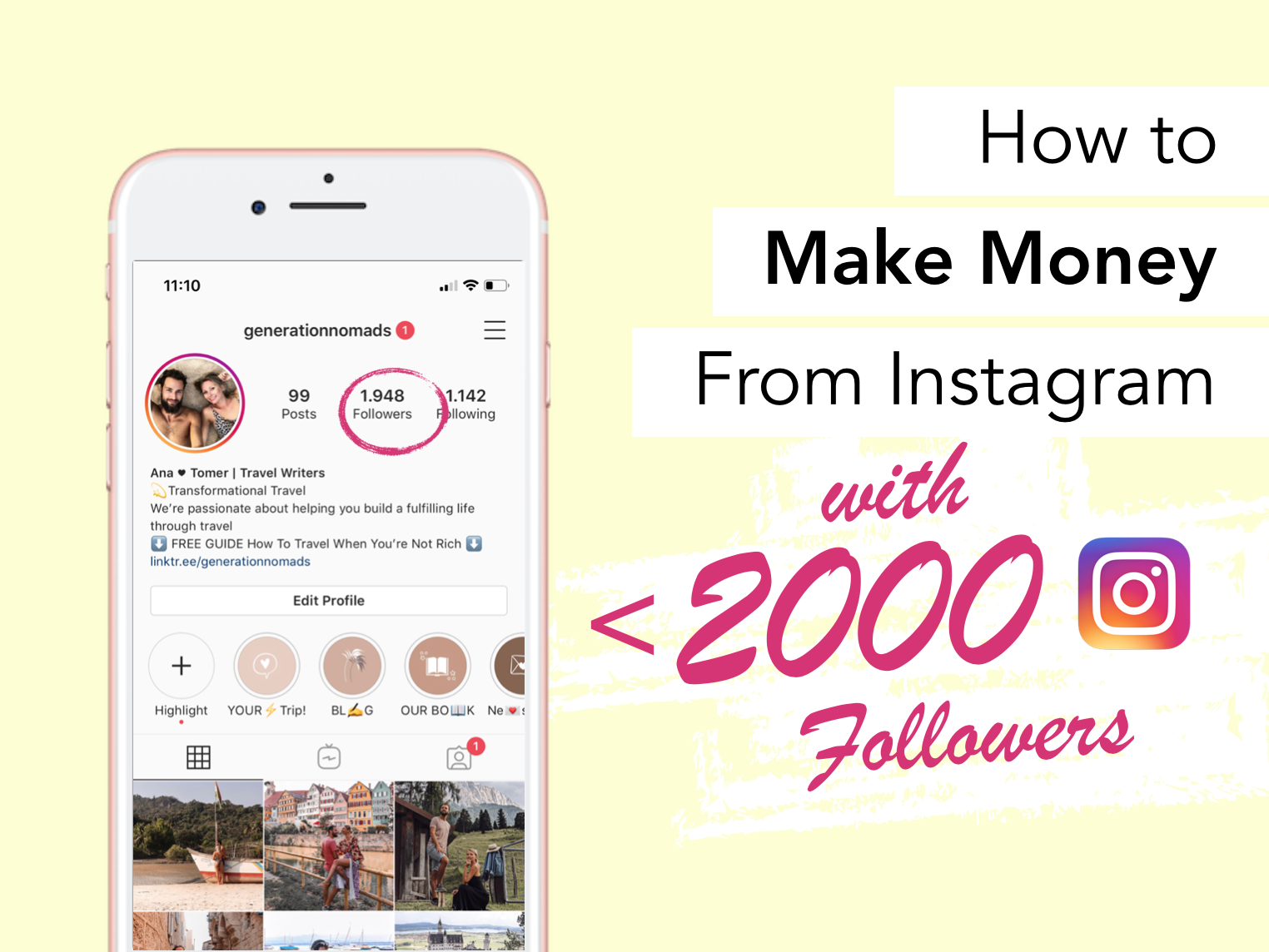 How To Make Money From Instagram With Under 2000 Followers in 2019